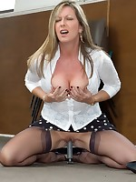 girdled milf toys in her nylons