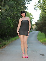 Beautiful Pantyhose Diva wearing nice dress