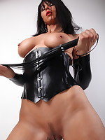 Sexy MILF Desyra Noir with a whip