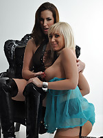 Sexy Paige Turnah is Janes guest and she is having a lot of fun with this curvy blonde.